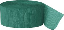 Emerald Green Crepe Paper Streamer Roll 81ft